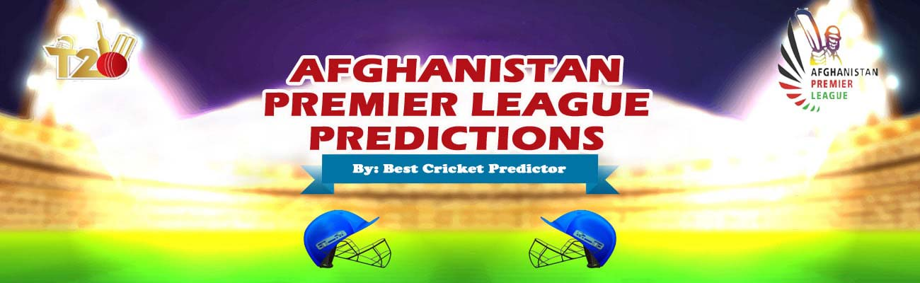 Afghanistan Premier League Prediction