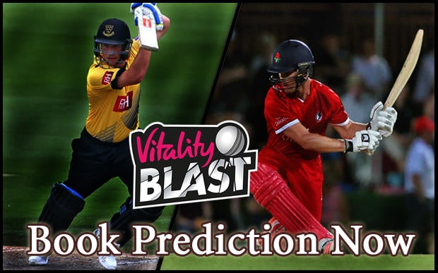 who will win today vitality t20 blast match